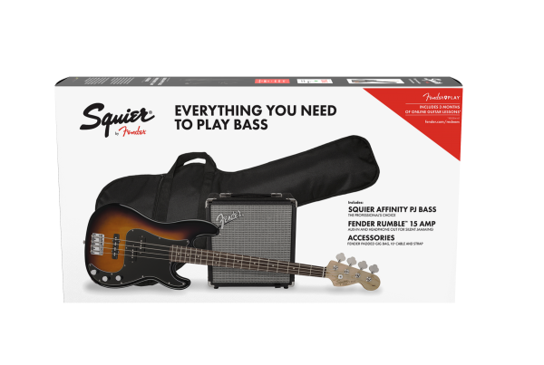SQUIER AFFINITY PACK PJ BASS GB  R15 BSB