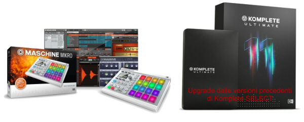 MASCHINE MIKRO MK2 WH BUNDLE KOMPLETE 11 ULTIMATE