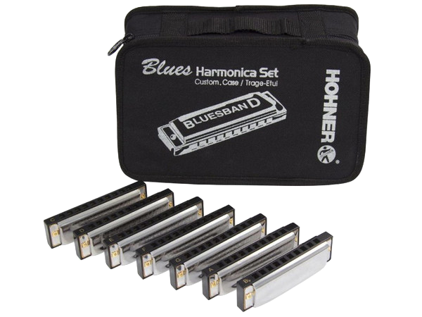 HOHNER BLUES BAND 7 ARMONICHE CON BORSA