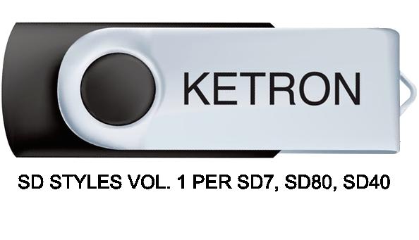 KETRON SD STYLES VOL. 1 PER SD7, SD80, SD40