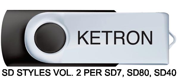 KETRON SD STYLES VOL. 2 PER SD7, SD80, SD40