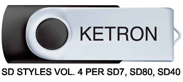 KETRON SD STYLES VOL. 4 PER SD7, SD80, SD40